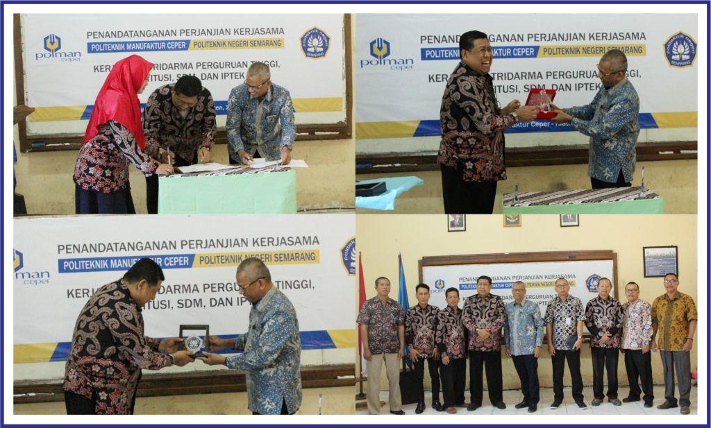 MOU Politeknik Manufaktur Ceper dan Politeknik Negeri Semarang